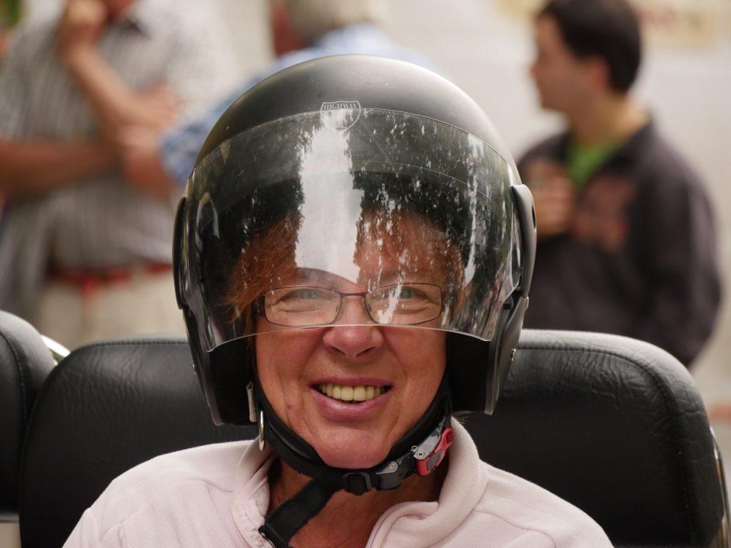 Lachende Gesichter auf dem Trike Event